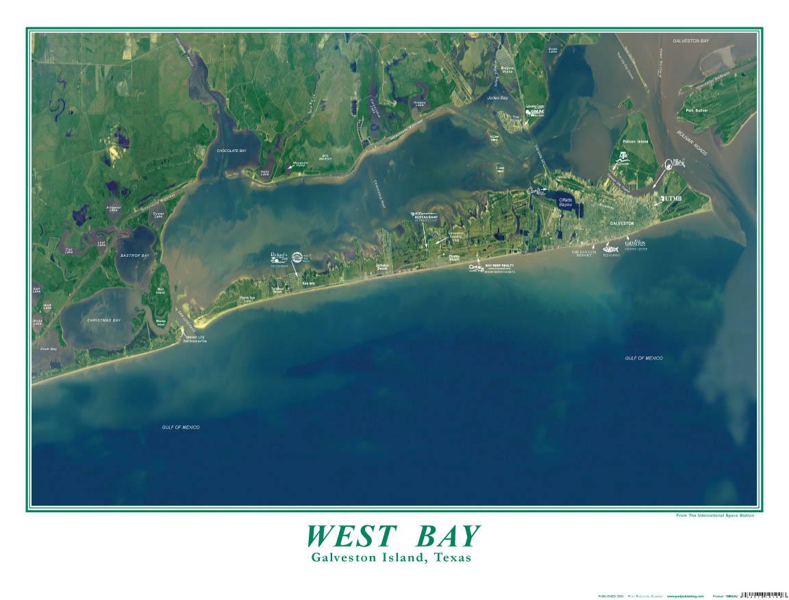 Galveston Island Map
